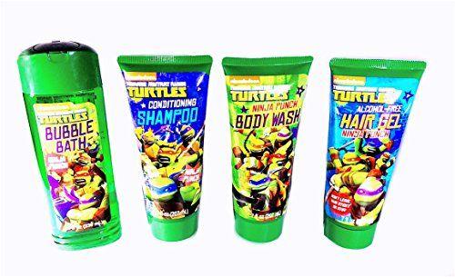 Age Mutant Ninja Turtle Toiletry Set Bubble Bath Conditioning Shampoo Body Wash And Hair