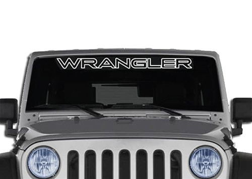 Wrangler Jeep Outline Windshield Decal Banner Jeep Wrangler