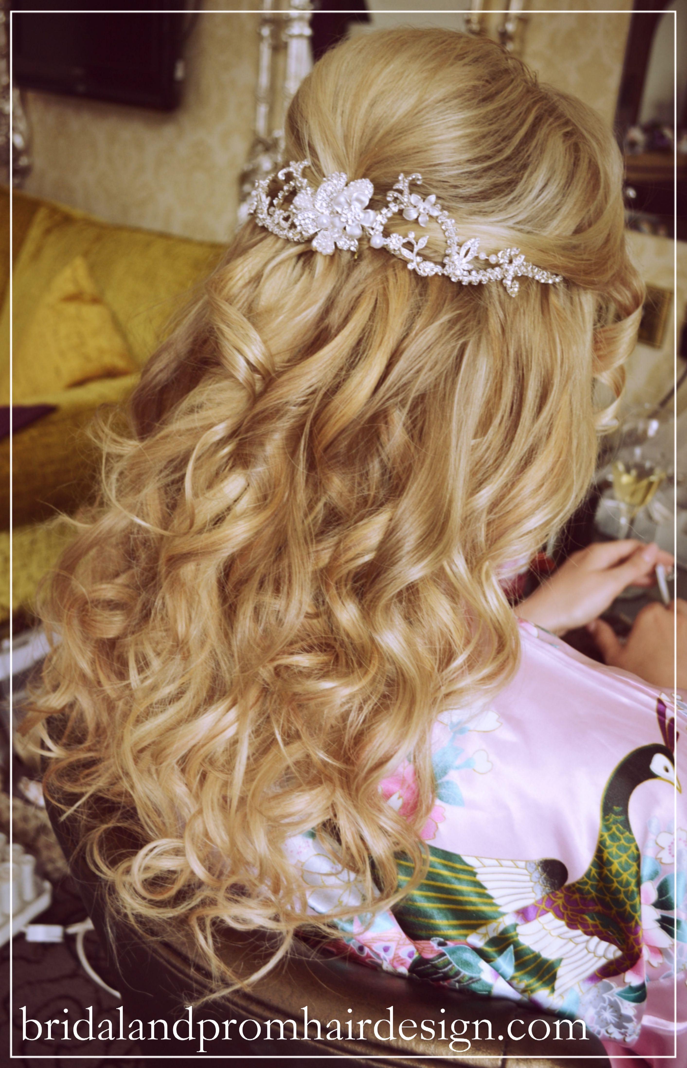 my real brides, wedding hair half up half down using human hair clip