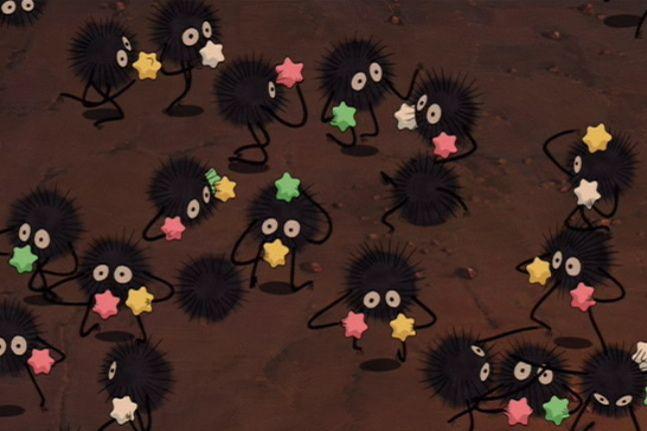 Sen To Chihiro No Kamikakushi Spirited Away Soot Sprites Ghibli Studio Ghibli Soot Sprites