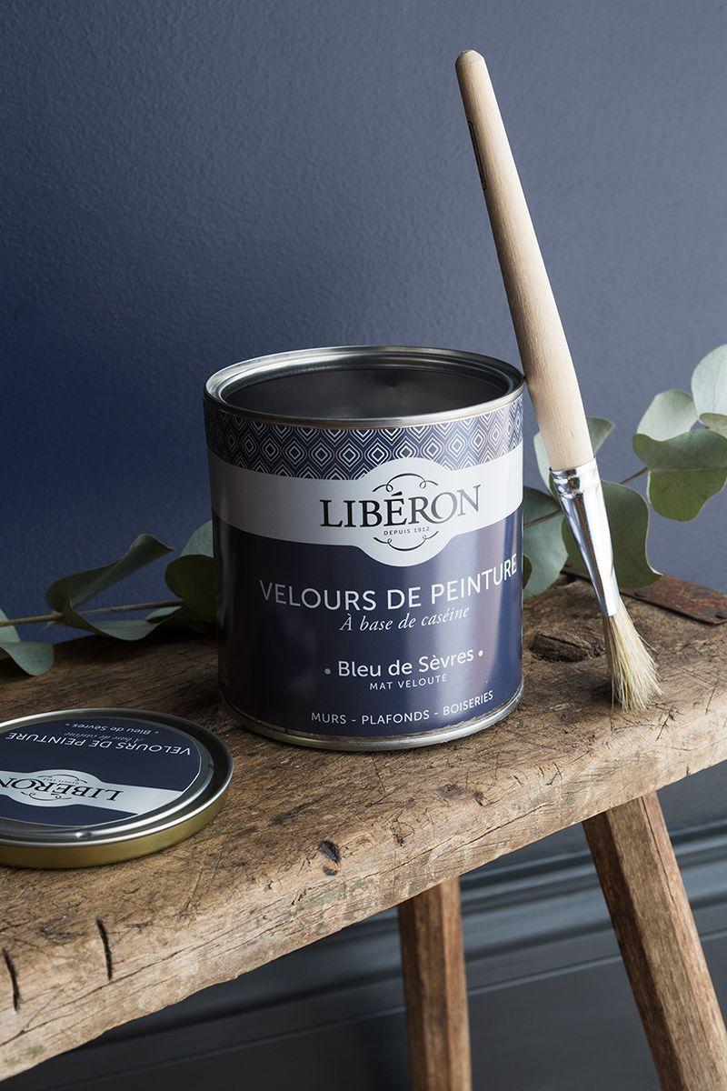 Velours De Peinture Couleur Bleu De Sevres Liberon Peinture Murale Salon Peinture Meuble Cuisine