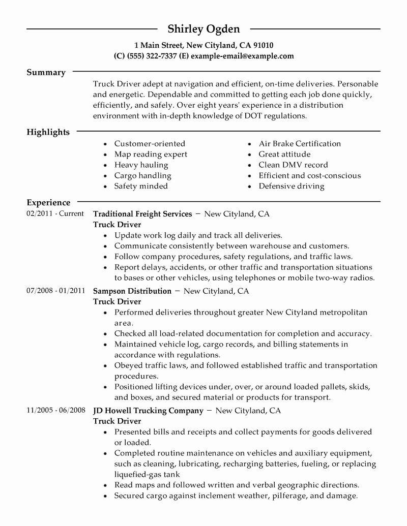 23 truck dispatcher job description resume in 2020