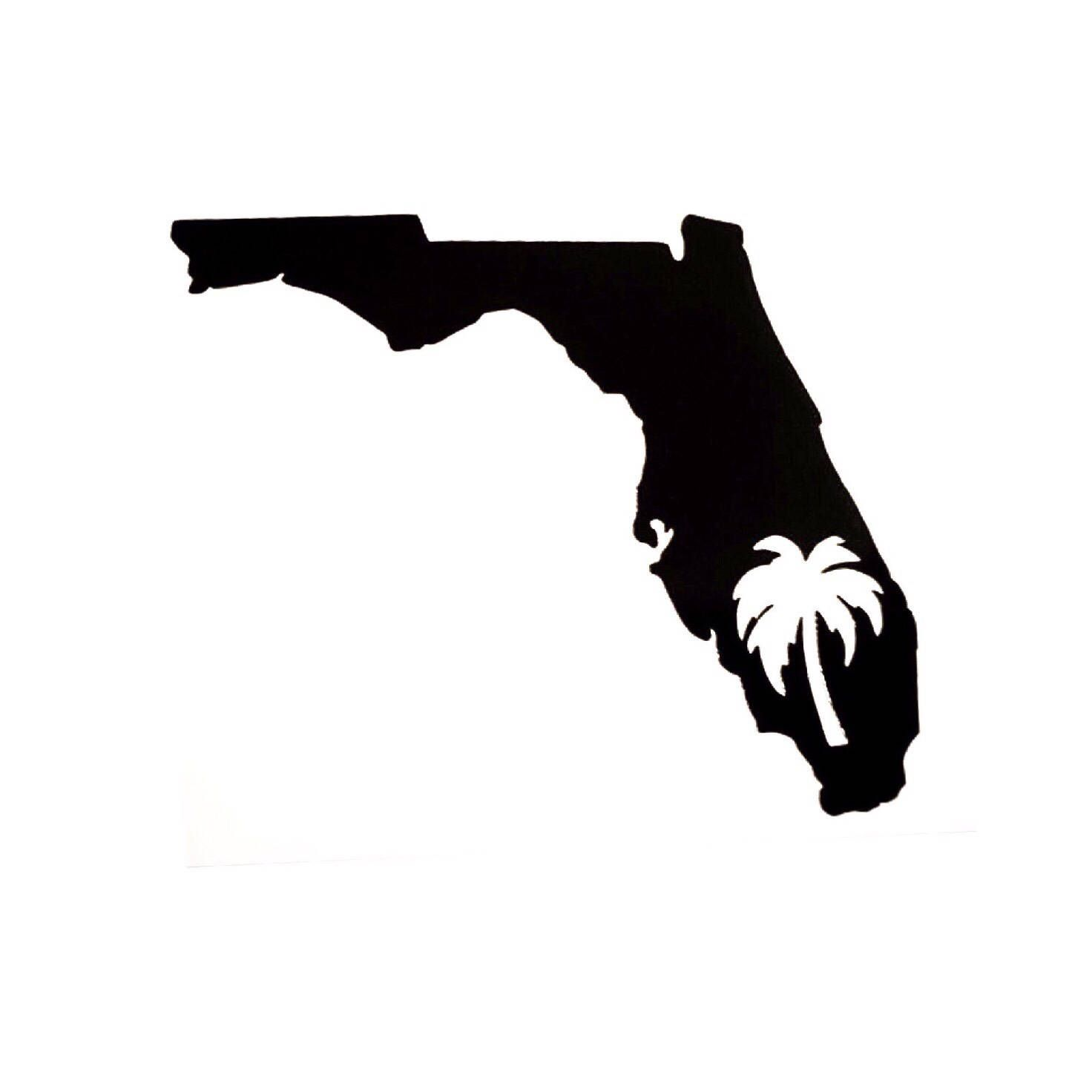 Florida Palm Tree Decal Florida State Decal Palm Tree Etsy Florida Palm Trees Tree Decals Palm Tree Decorations [ 1472 x 1472 Pixel ]