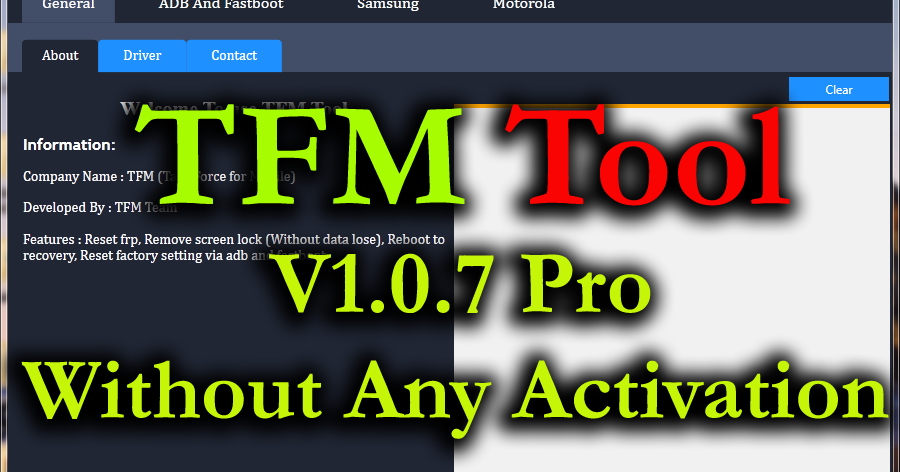 Tfm Tool 1 0 7 Pro Latest Without Any Activation100 Tested Free