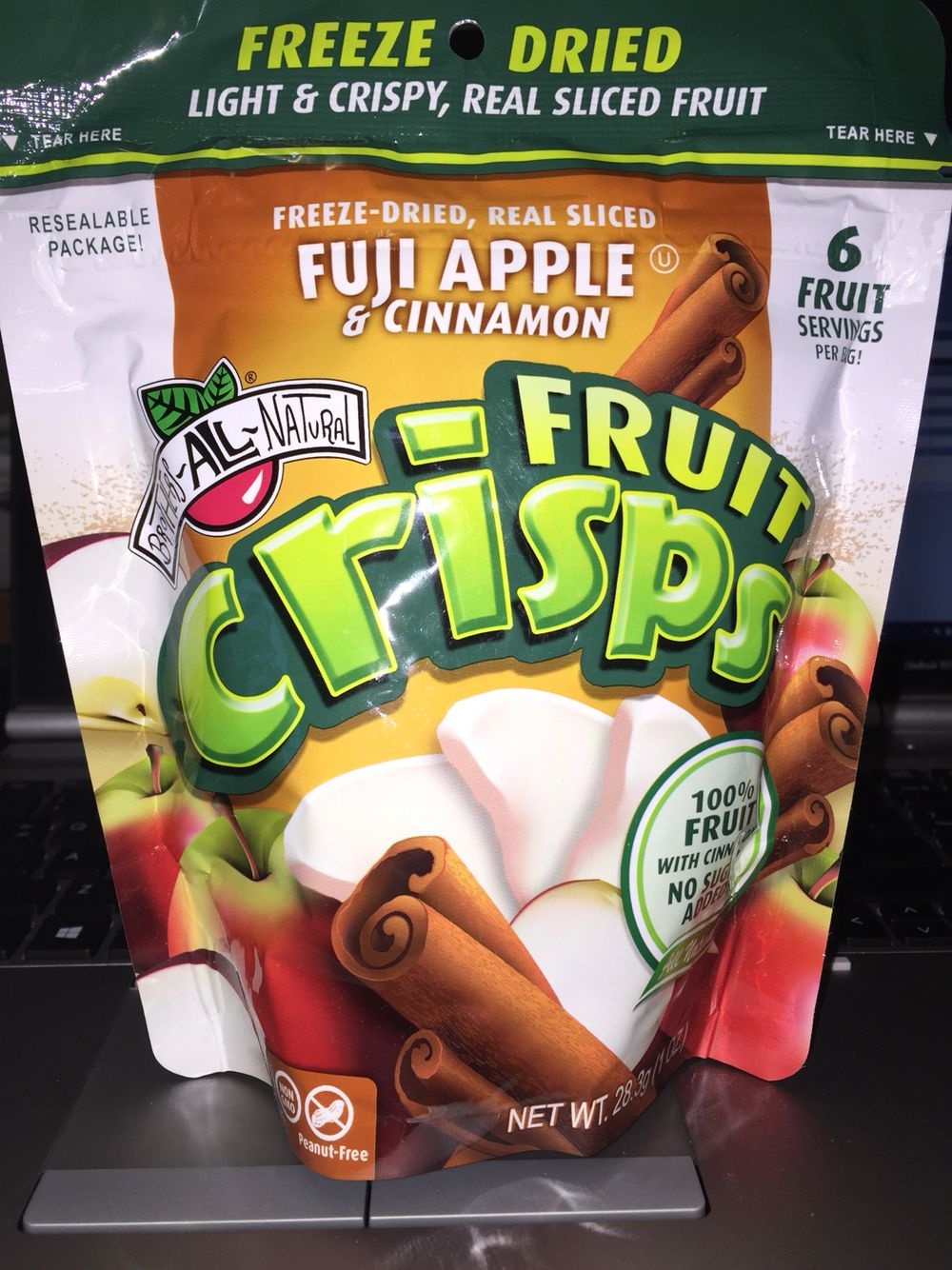 Brothers all natural fruit crisps Fuji apple & cinnamon