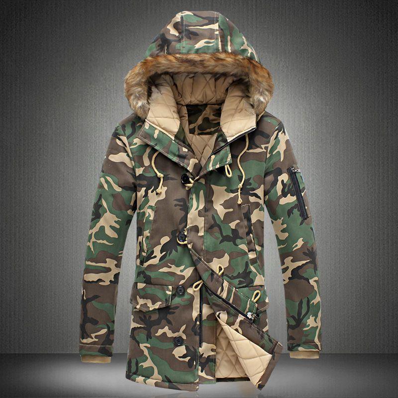 2020 New Brand Winter Men Thick Camouflage Jacket Men S Parka Coat Male Hooded Parkas Jacket Men Military O In 2020 Mens Parka Jacket Mens Parka Coats Mens Hooded Coat