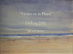 """""""Viento en la playa"""" Delroy pastel 2012."""