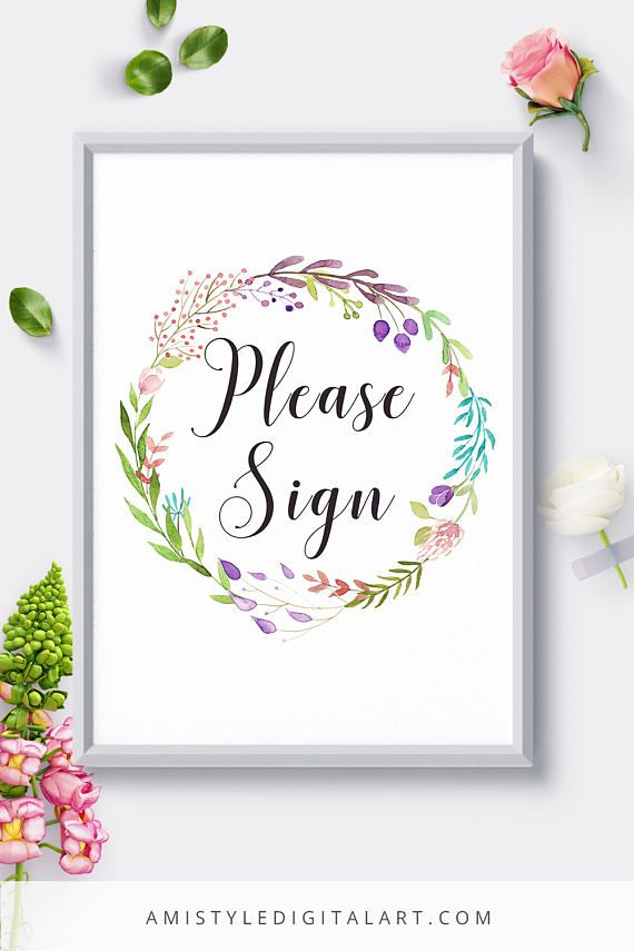 Wedding Signs Please Sign Wedding Signage Reception Sign Wedding