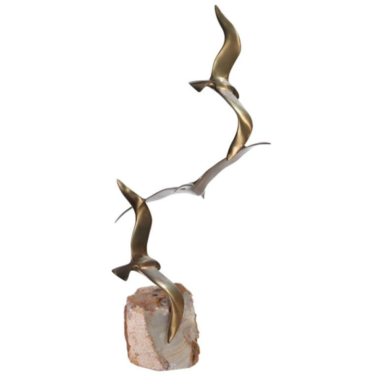 Awesome Curtis Jere Sculpture Of Flying Seagulls