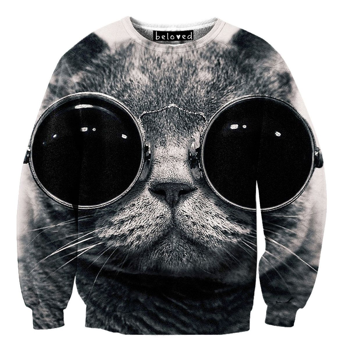 Cool Cat Sweater by Beloved Wear   fab.com   I Love It a1e736fcbd