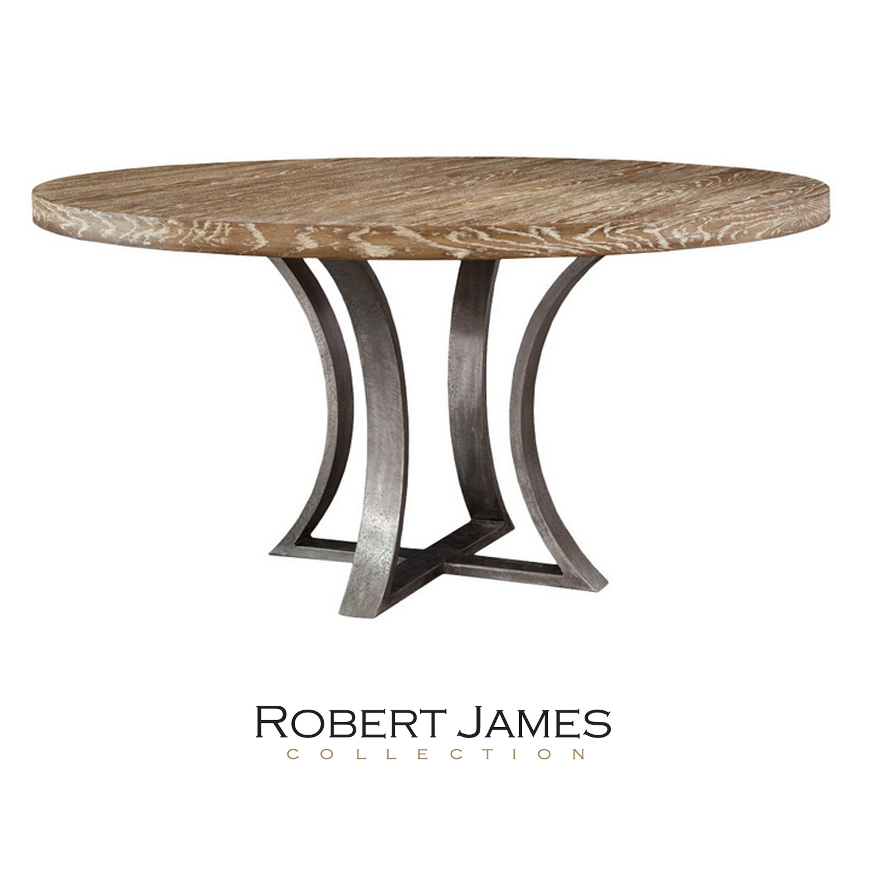 The Curved Steel Base Beautifully Compliments The Round Top On The New Tamarind Dining Table Handmade Locally Wit Dining Table Contemporary Dining Table Table