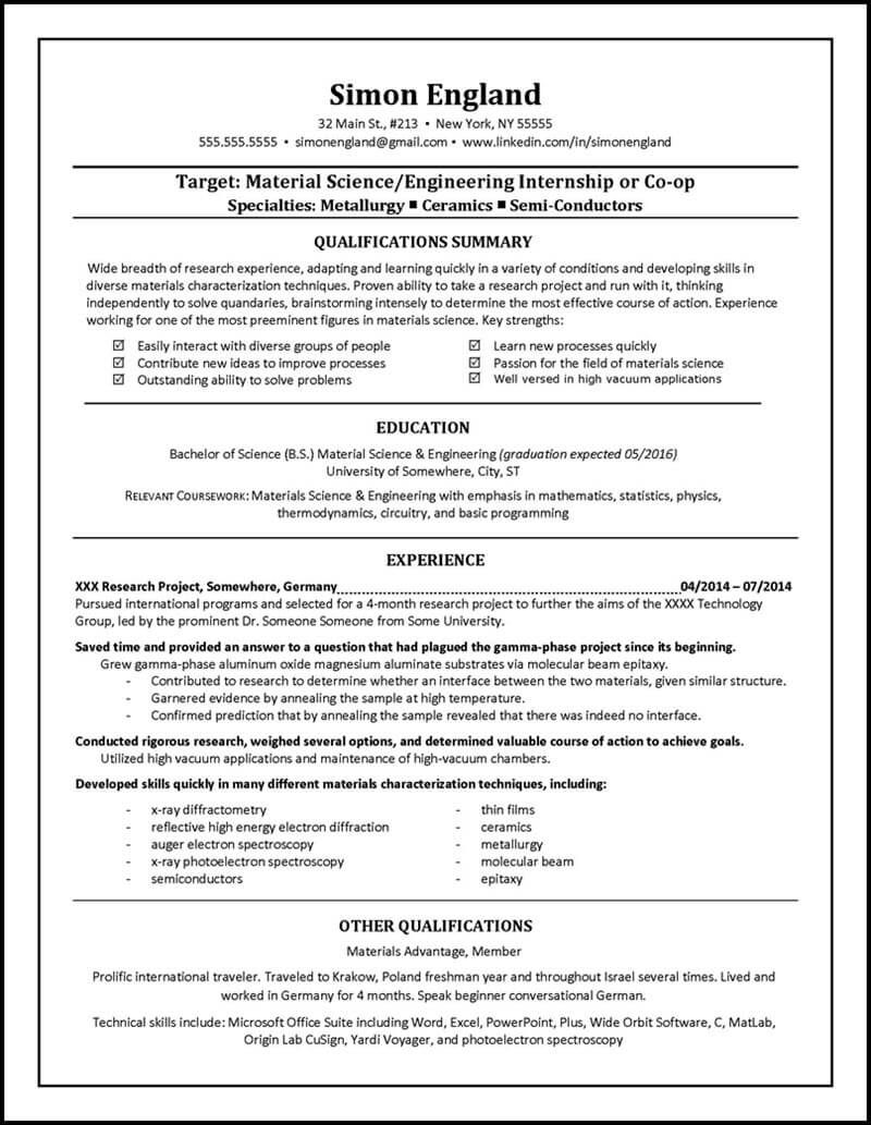Student Resume Examples 4 | Resume Examples | Pinterest