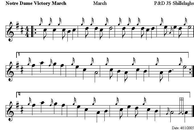 Notre Dame Fight Song Sheet Music With Images Fight Song Piano