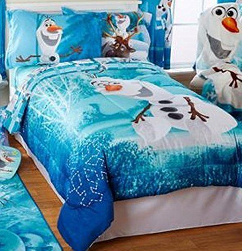 disney frozen olaf build a snowman twin/full bedding comforter and