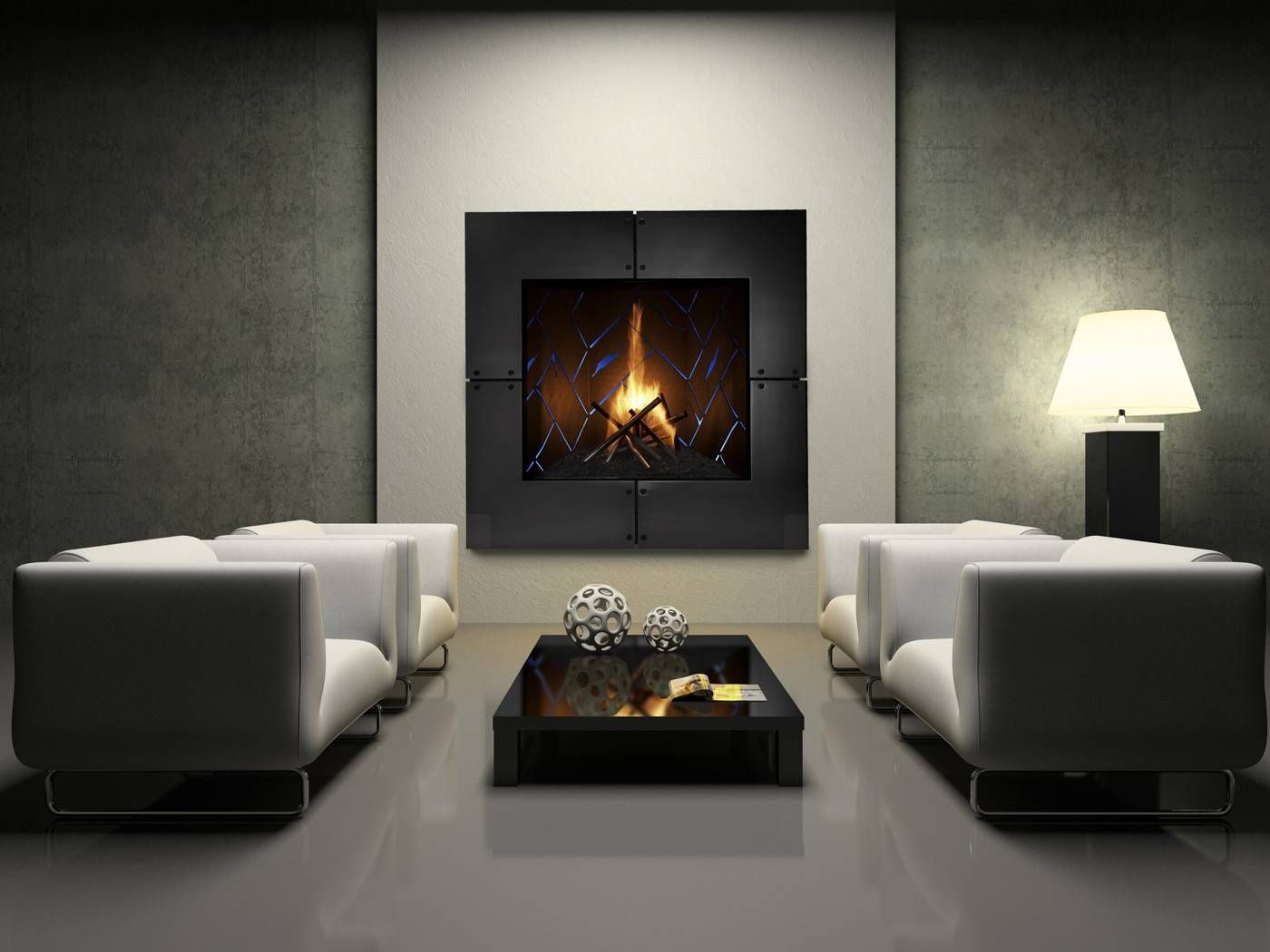 We have this Fireplace in our Showroom, It's Amazing