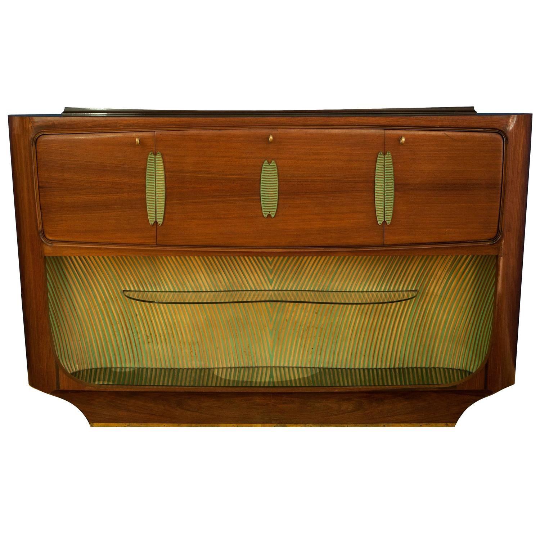 Vittorio Dassi Art Deco Rosewood Buffet, Bar Cabinet, Italy, 1940S