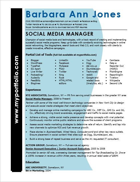 Hereu0027s how to spin your social media experience into a powerful - social media sample resume