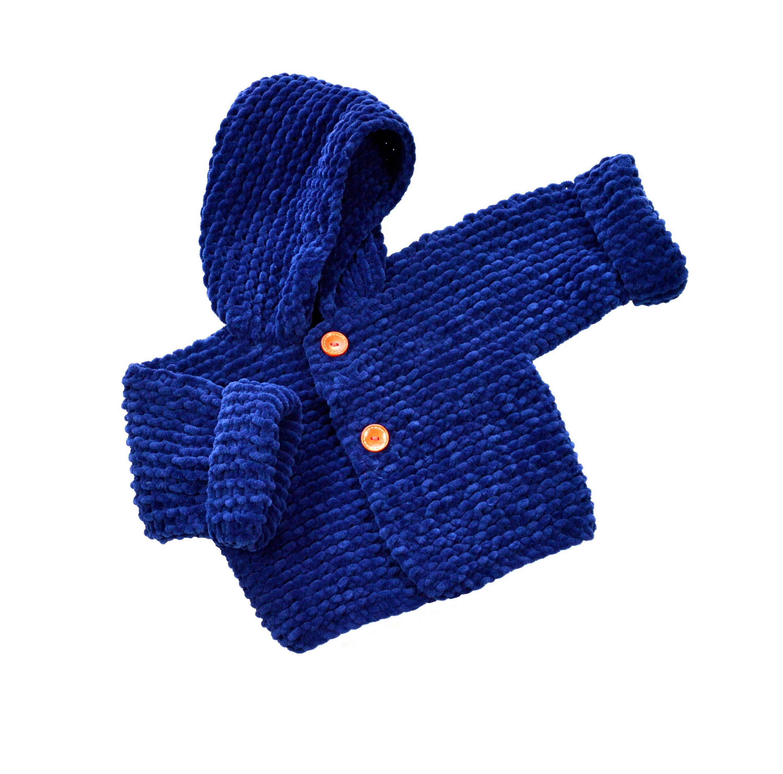 Abrigo bebé niño con capucha. Abrigo bebé azul marino. Ropa de bebé hecha a mano. Abrigo bebé terciopelo 3 meses. Ropa invierno bebé niño. de Puntoapuntobebeymas en Etsy