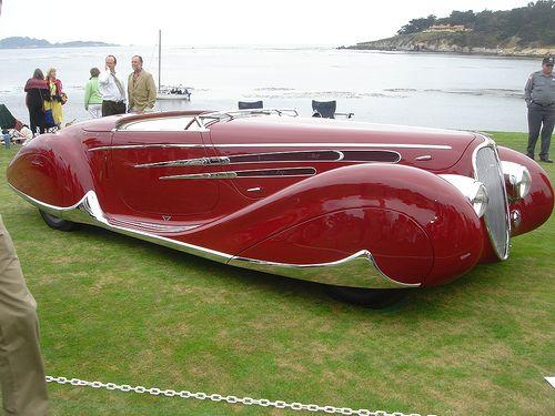 1939 Delahaye 165 M Figoni Falaschi Cabriolet Voiture Vintage