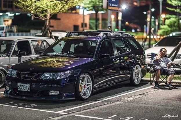 Beautiful Saab 9 5 Wagon And Its Owner