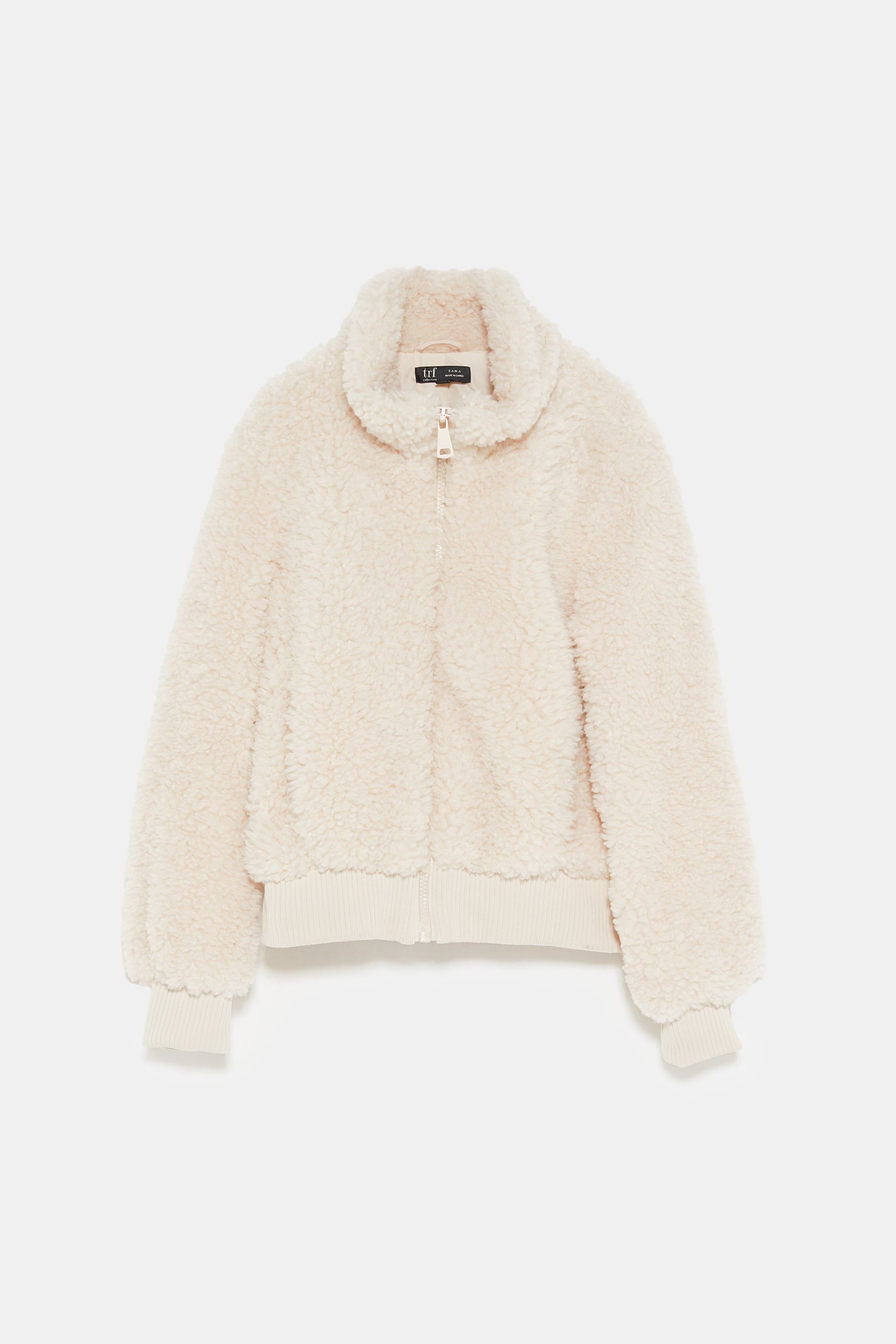 sold worldwide hot-seeling original no sale tax Image 8 of FAUX SHEARLING BOMBER JACKET from Zara   Fashion ...