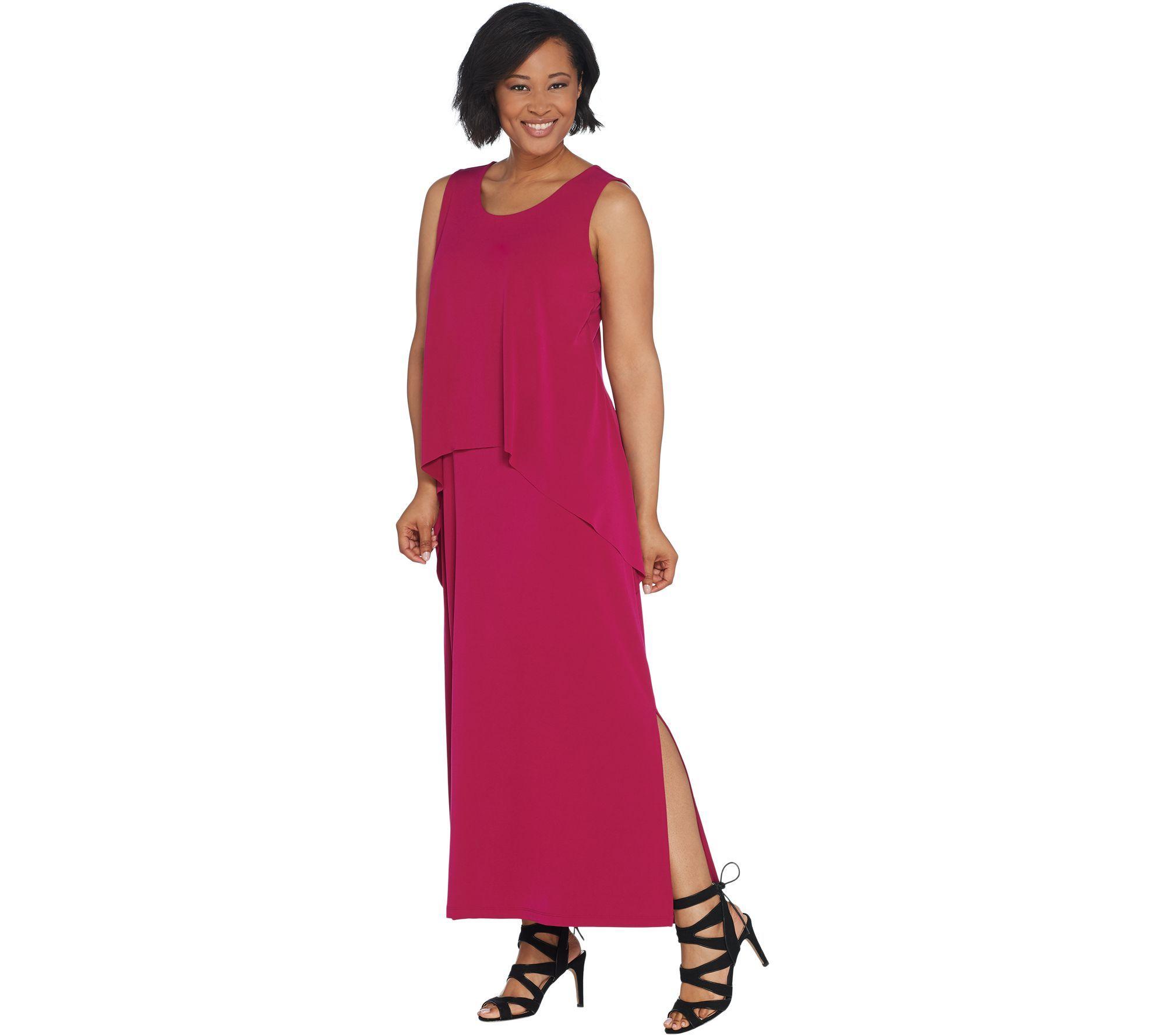 Susan Graver Petite Liquid Knit Tiered Maxi Dress Qvc Com Maxi Dress Petite Maxi Dress Tiered Maxi Dress [ 1778 x 2000 Pixel ]