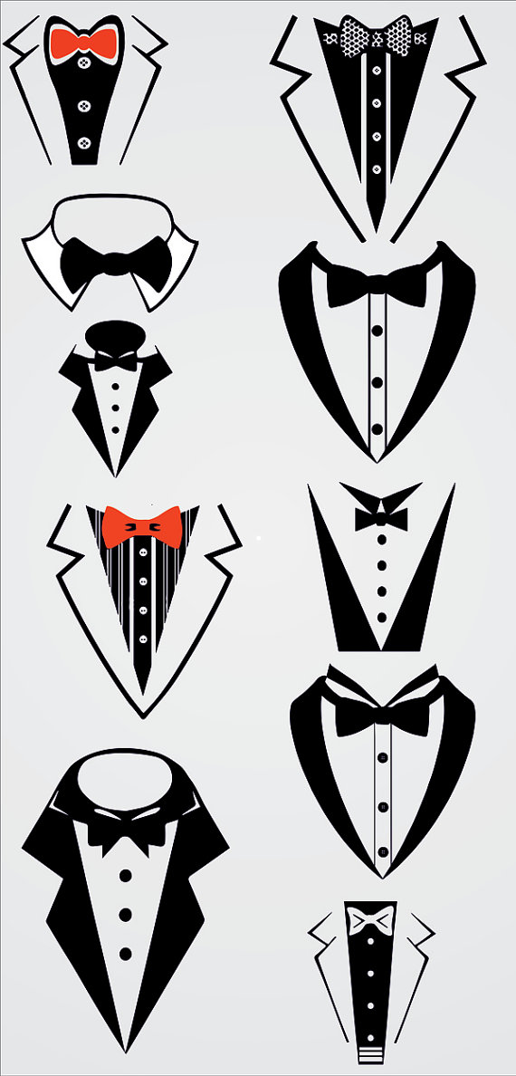be879a8f651af Tuxedo Bow Tie ,Tuxedo, Formal, Bib, Bow Tie, SVG and Silhouette ...