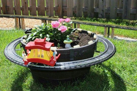 John lawsons barrel with his toonerville tolley   Mini Garden ...
