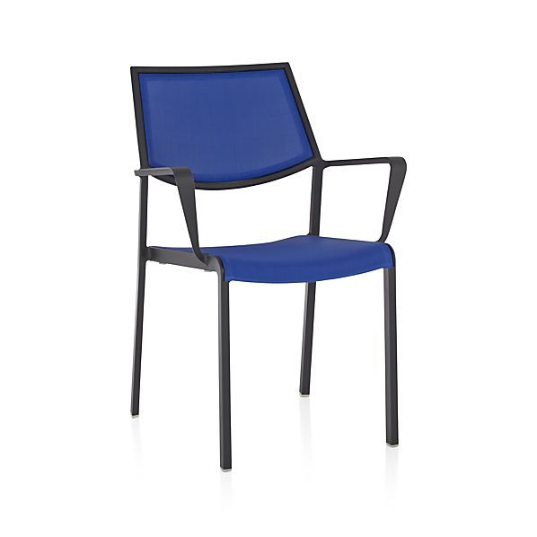 Largo Mediterranean Blue Mesh Dining Chair | Crate and ...