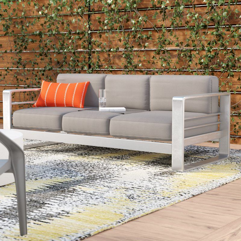 Durbin Loveseat With Cushions Patio Sofa Outdoor Sofa Furniture