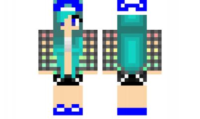 Minecraft Skin Blue Hair Girl Gamer Minecraft Skins Blue