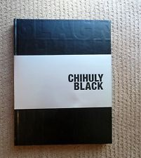 2008 DALE CHIHULY BLACK Signed GLASS ART GLASS BLOWING limited edition