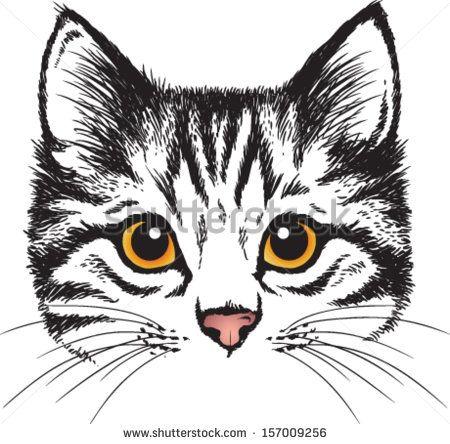 Dibujo De Cara De Gato