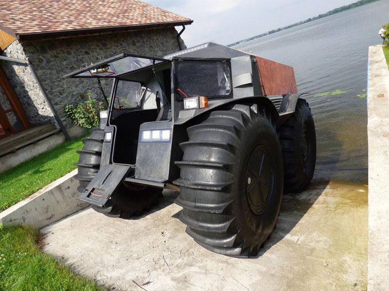 Sherp Atv For Sale >> Sherp Atv Russian Amphibious Truck With Monster Wheels 10