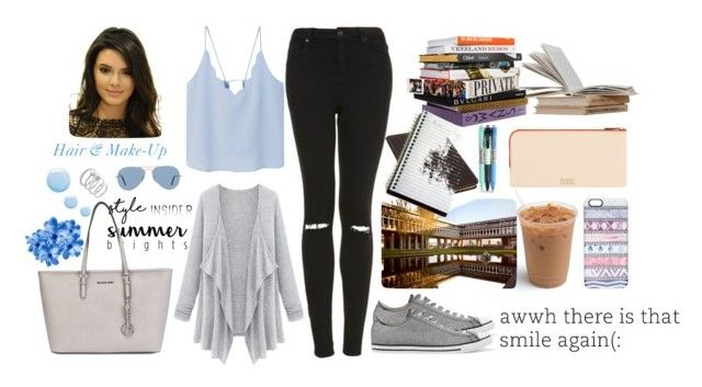 You and I by cadylin on Polyvore featuring Mode, MANGO, Topshop, Converse, MICHAEL Michael Kors, Piel Leather, Vince Camuto, Ray-Ban, Casetify and Vera Bradley