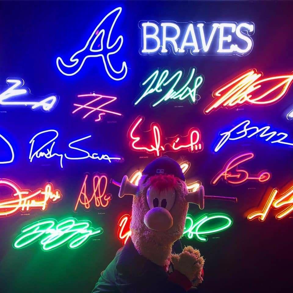 Pin By Kathy B On Atlanta Braves In 2020 Neon Signs Atlanta Braves Braves