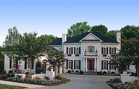 Plan 17542lv twin chimneys georgian car garage and for Colonial luxury house plans