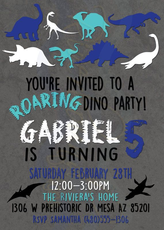 Printable Dinosaur Birthday Invitation / Jurassic Park Birthday Party by RiverMamasDesigns