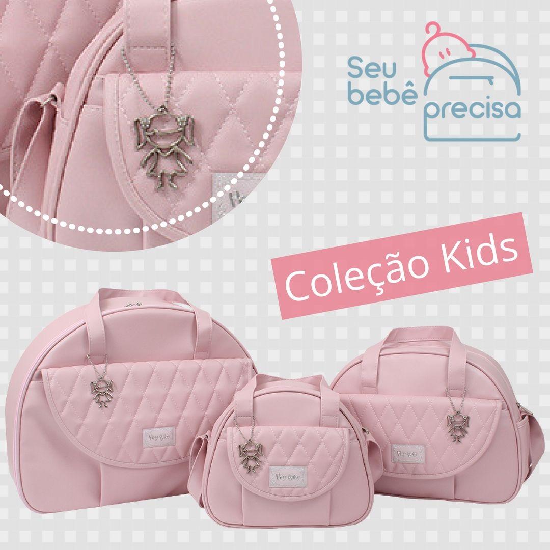 ff607f230 Kit mala maternidade, bolsas para o bebê e frasqueira térmica Hey Baby,  Coleção Kids