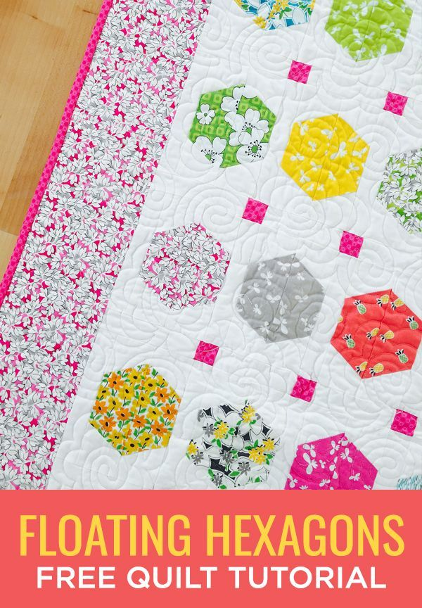 Make a Floating Hexagons Quilt with this Easy (and Free!) Video ... : free quilt videos - Adamdwight.com