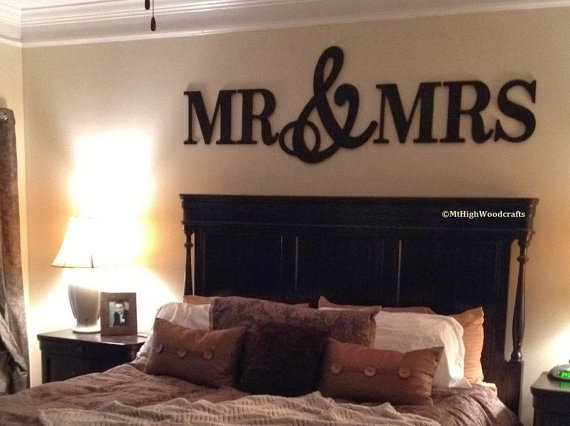 Mr Mrs Wood Letters Wall Decor Painted Wood Letters Wall