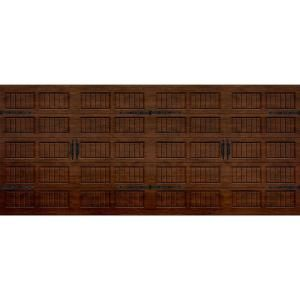Martin Garage Doors Wood Collection Silverlake 16 Ft X 7 Ft Grooved Panel Walnut Woodgrain Wood Garage Doors Garage Doors Martin Garage Doors