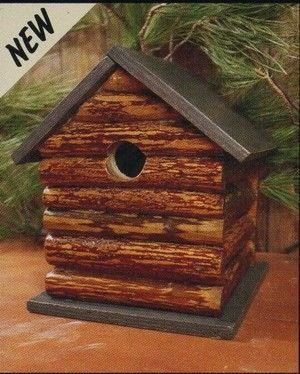 Greatest Bird Feeders - Log Cabin Birdhouse, $34.50 (http://www.greatestbirdfeeders.com/log-cabin-birdhouse/)