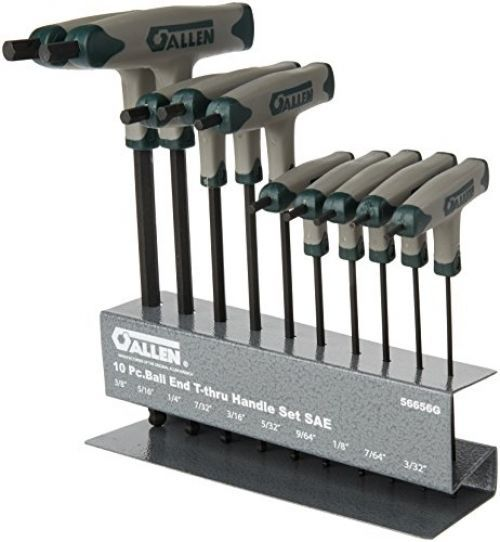 Allen 10 Piece Sae Ball Plus T Thru Handle Set Hex Key Hand Tools For Sale 10 Things