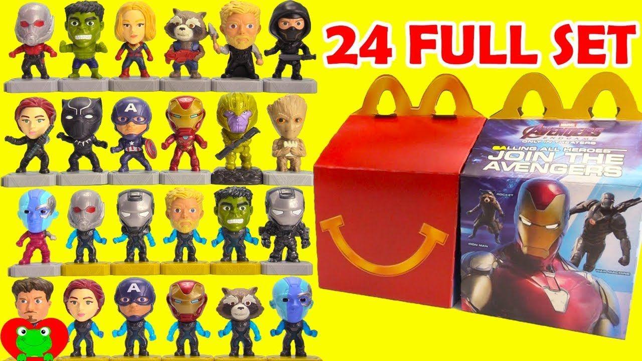 2019 Avengers Endgame Mcdonald S Happy Meal Toys Full Set Of 24 Happy Meal Toys Happy Meal Mcdonalds Mcdonalds