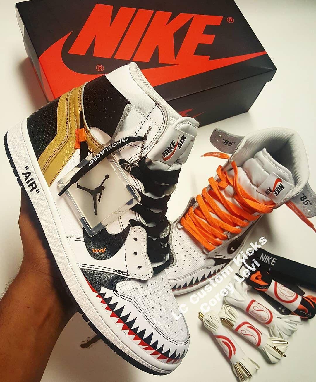 Nike Air Jordan 1 Og Off White X Bape