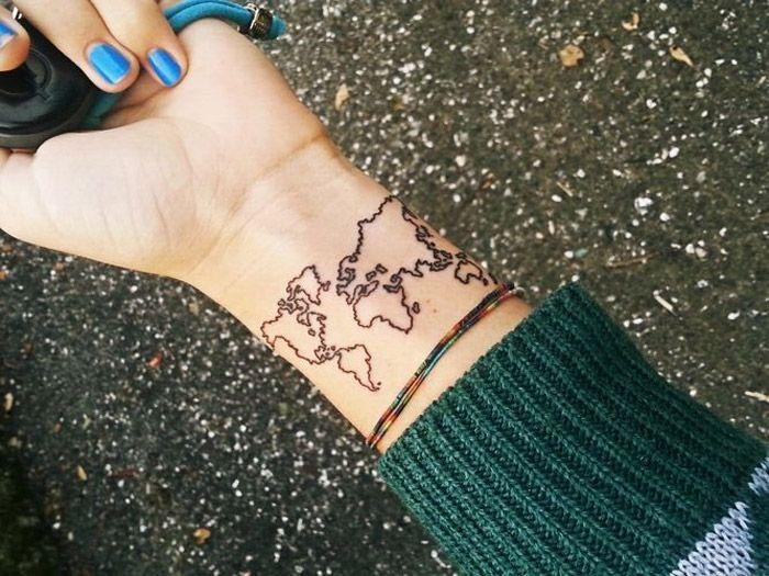 tattoo-mundo-mapa | Looks e tatoo | Pinterest | Tattoo, Tatoo and Tatoos