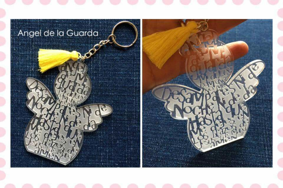 Un Ángel De La Guarda Colgante Placa con cinta más que las palabras de regalo