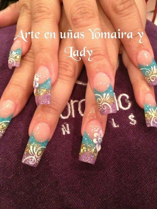 Pin de Nora Rodriguez en diseños de uñas | Pinterest | Uñas ...