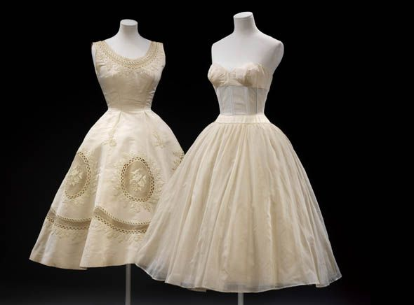 Les Muguets Lily Of The Valley Evening Dress By Hubert De Givenchy Organza With Sequins And Beads 1955